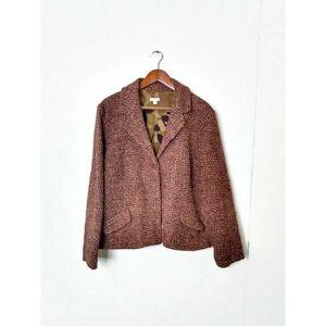 J. Jill WM Plus 18 Tweed Blazer Wool Blend